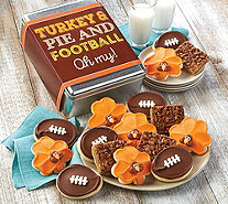 SH 11/5 Cheryl's_Turkey Pie and Football Oh My! Gift Tin - M59695