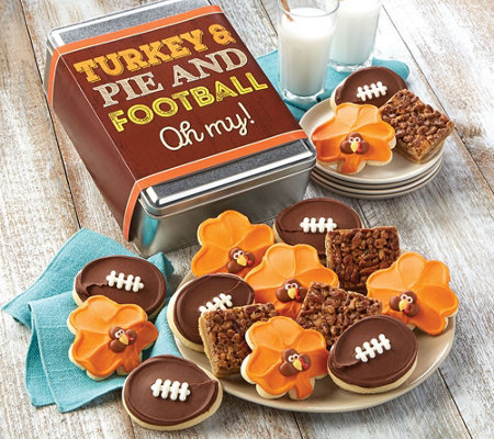 SH 11/5 Cheryl's_Turkey Pie and Football Oh My! Gift Tin