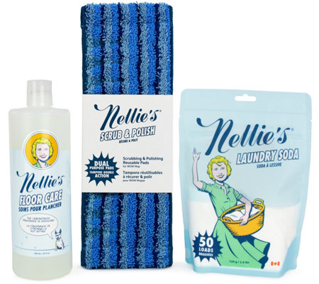 Nellie S Wow Mop Floor Care Kit Laundry Soda