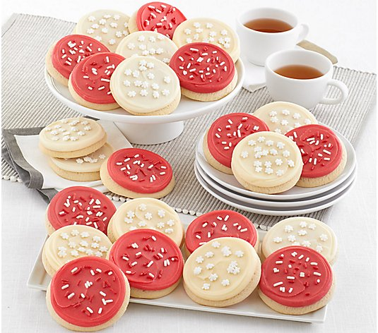 Ships 11/9 Cheryl's 24-pc Bow Box with Red & White Frosted Cookies