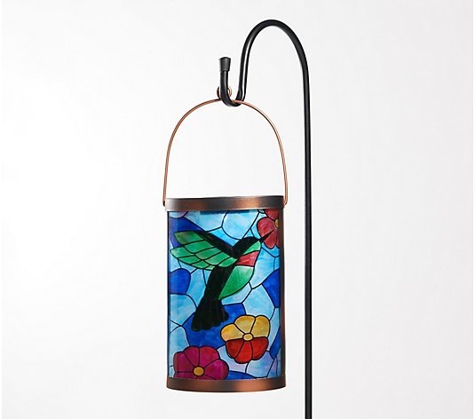 Plow & Hearth Tiffany Inspired Solar Lantern with Stake