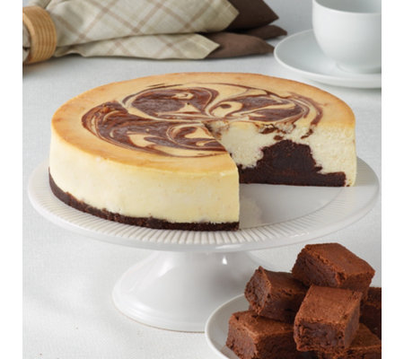 "Junior's 8"" Brownie Marble Swirl Cheesecake"