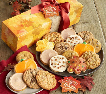 "Cheryl's ""Warmest Thanks"" 18-Piece Fall Cooki eBox"
