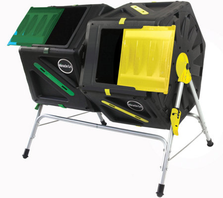 Miracle-Gro Dual Chamber 37 Gallon Tumbling Composter