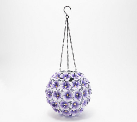 Compass Home Hanging Flower Sphere with 70 White LEDs