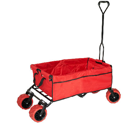 Creative Outdoor All-Terrain Folding Wagon - Page 1 — QVC.com 0d67121ba