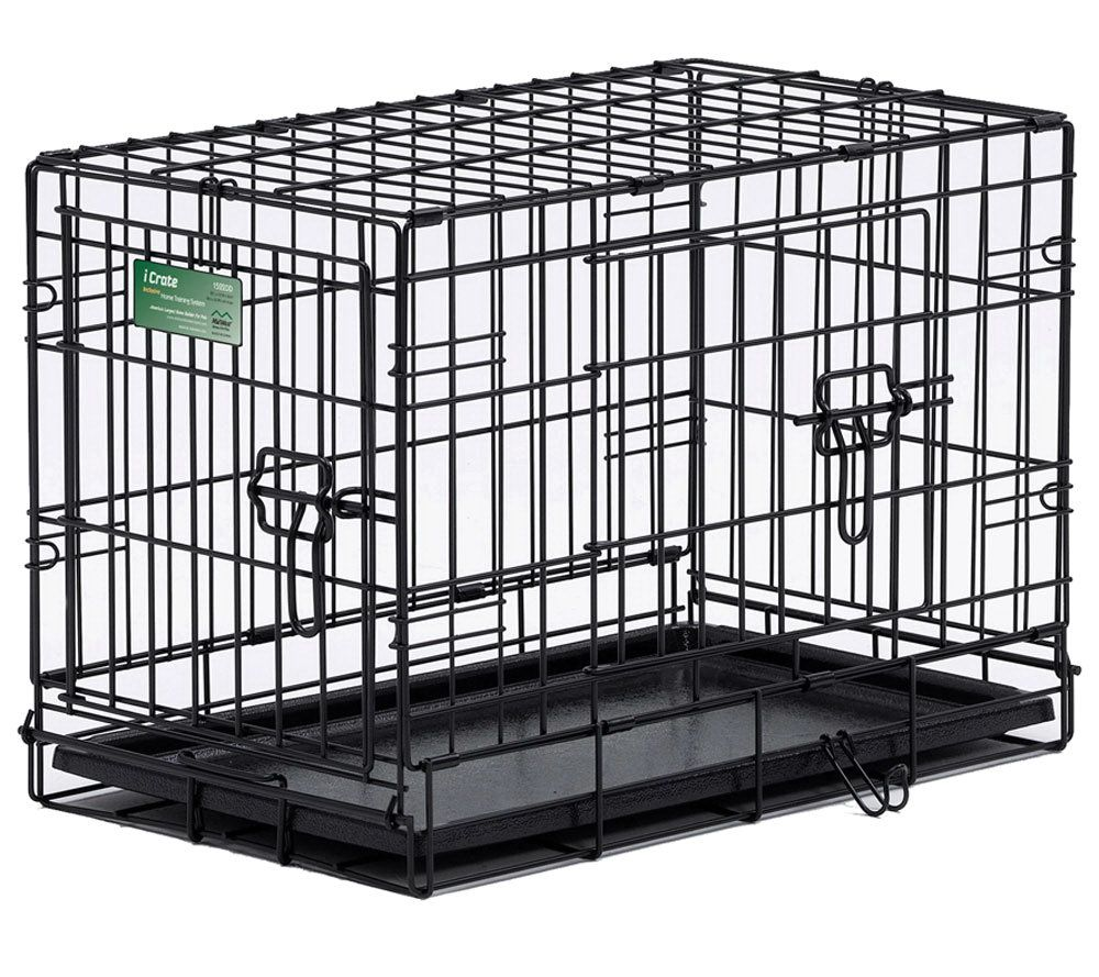 Pet Home I Crate Double Door 30 Inch Dog Crate   Page 1 U2014 QVC.com