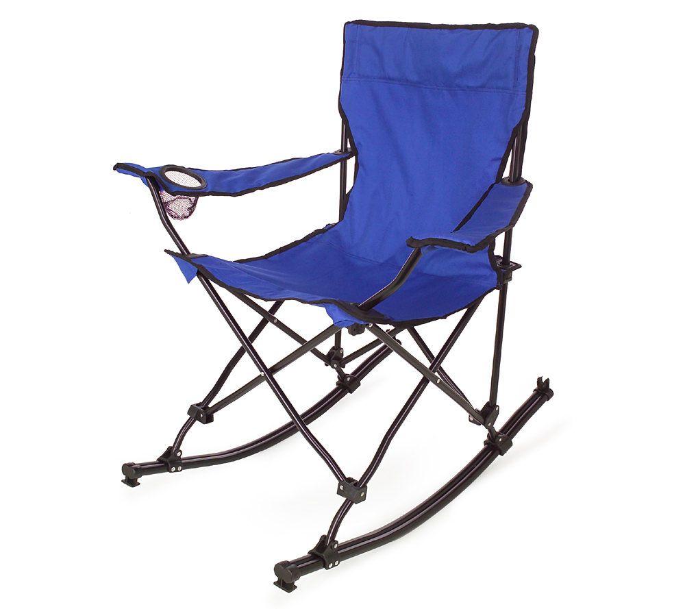 Portable Folding Rocking Chair W/Carrying Bag U2014 QVC.com