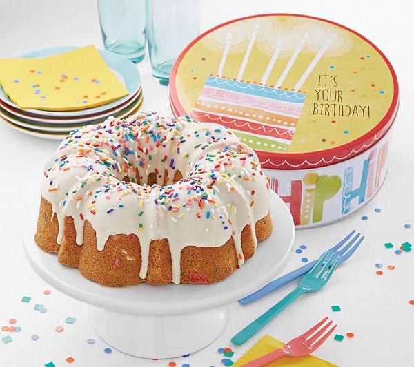 Cheryls Confetti Birthday Cake Gift Tin Page 1 Qvc