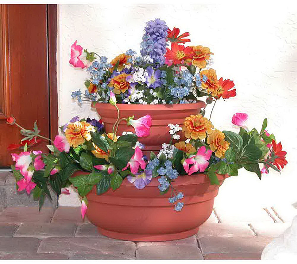 Instant Flower Garden Tower W 10 Seed Mats With Nutragro Page 1 Qvc