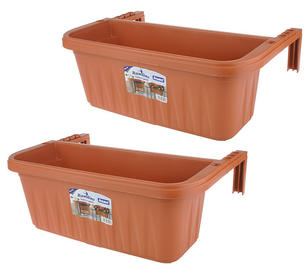 Set Of 2 Adjustable Deck Railing Planters Page 1 Qvc Com
