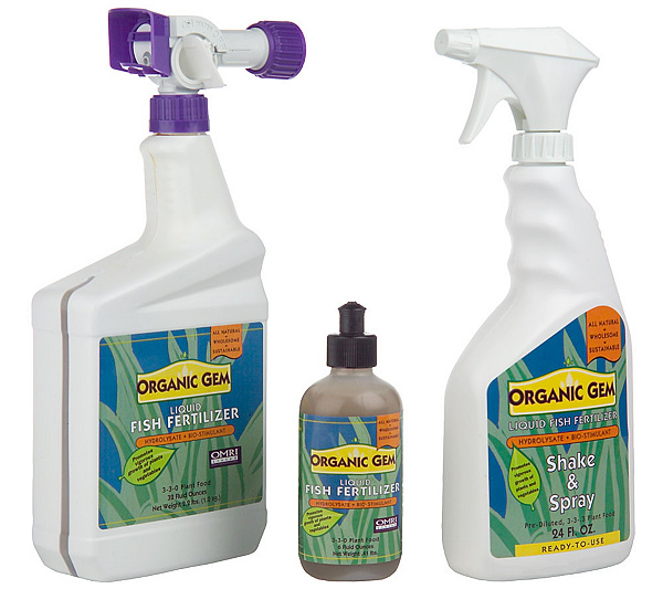 Organic Gem 6 Piece Liquid Fish Fertilizer Kit Product Thumbnail In Stock