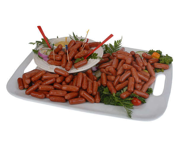 Nathans 2 2lb Packages Of All Beef Mini Cocktail Franks Qvccom