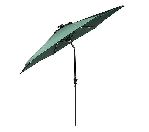 Southern Patio 10 Solar Crank Tilt Umbrella W Morphing Whiteled Lights Page 1 Qvc