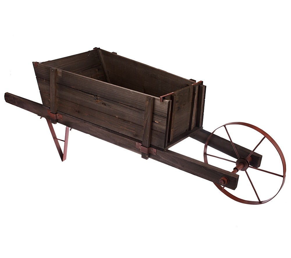 Plow Hearth Large Wheelbarrow Planter Page 1 Qvc Com