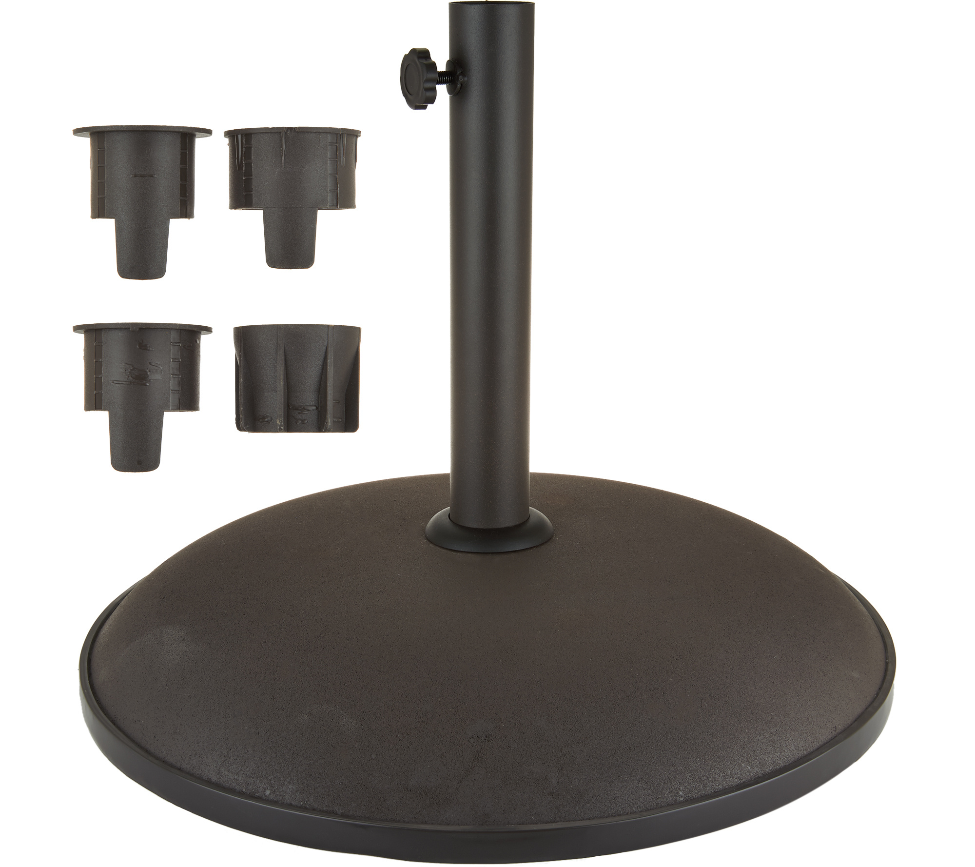 atleisure 50 lb. umbrella base - page 1 — qvc 50 Pound Umbrella Base