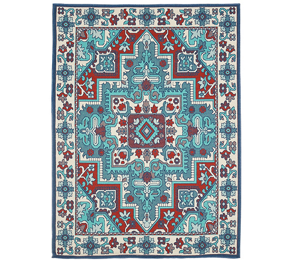 Veranda Living 5 X 7 Traditional Tile In Outdoor Rug Page 1 Qvc