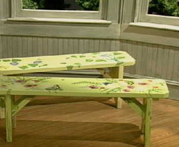 Easy To  Assemble Handpainted Garden Bench U2014 QVC.com