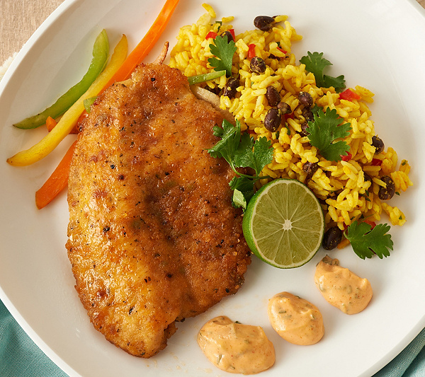 0be1b0f407bc Anderson Seafoods (7) 6-oz Tortilla Crusted Tilapia - Page 1 — QVC.com