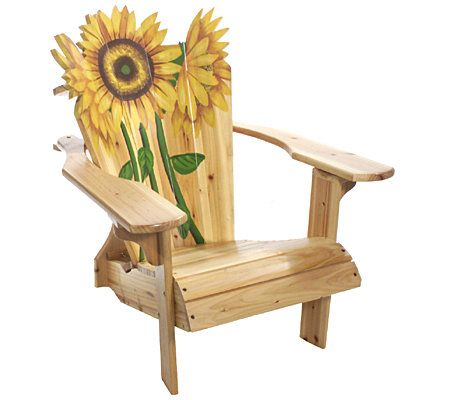 Incroyable Blooming Sunflower Adirondack Chair U2014 QVC.com