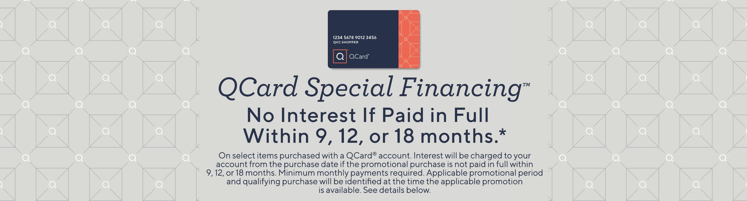 QCard Special Financing — QVC com