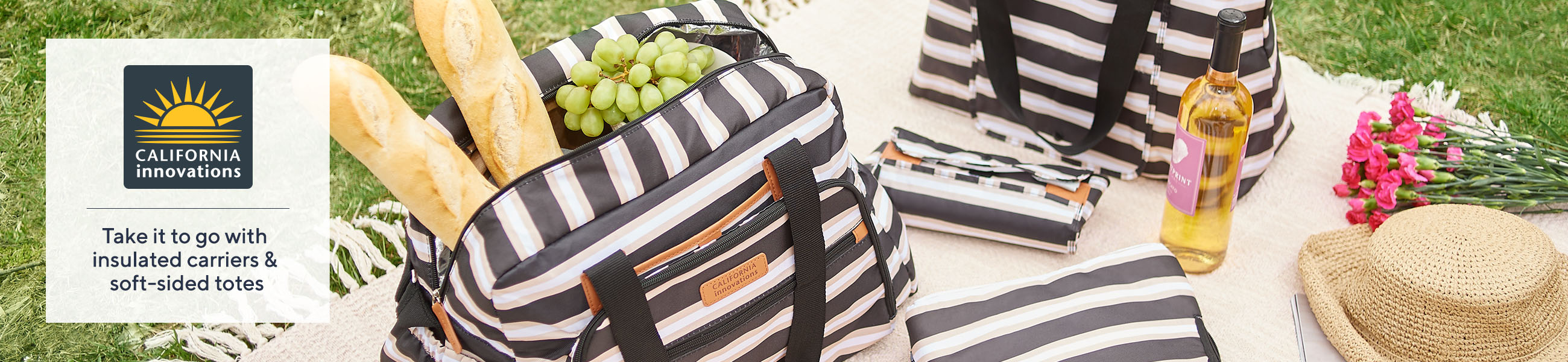 California Innovations Take it to go with insulated carriers & soft-sided totes