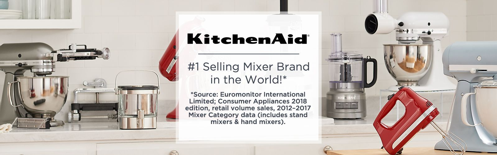 KitchenAid. #1 Selling Mixer Brand In The World!