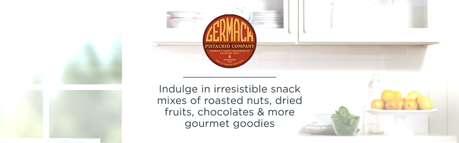 Germack. Indulge in irresistible snack mixes of roasted nuts, dried fruits, chocolates & more gourmet goodies.