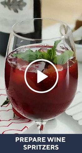 Prepare Wine Spritzers