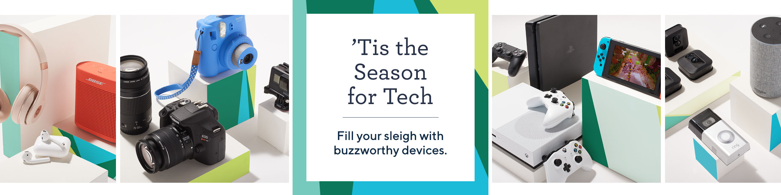 'Tis the Season for Tech.  Fill your sleigh with buzzworthy devices.