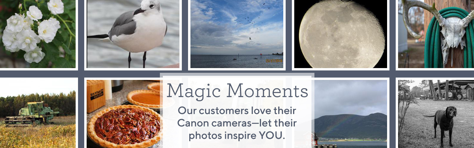 Magic Moments.  Our customers love their Canon cameras—let their photos inspire YOU.