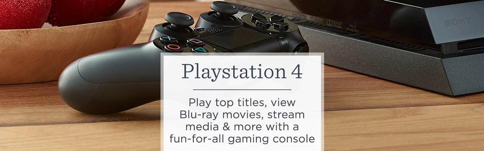 PlayStation 4, Play top titles, view Blu-ray movies, stream media & more with a fun-for-all gaming console