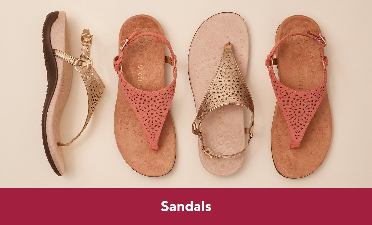 shades of half price new photos Vionic Sandals — QVC.com