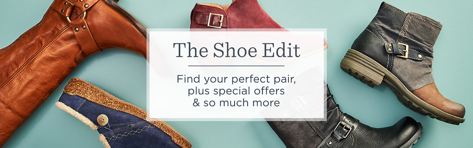 The Shoe Edit.  Find your perfect pair, plus special offers & so much more