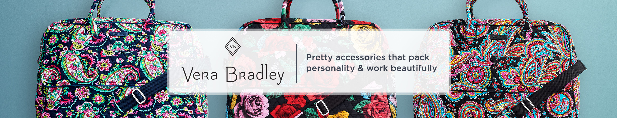 Vera Bradley.  Pretty accessories that pack personality & work beautifully