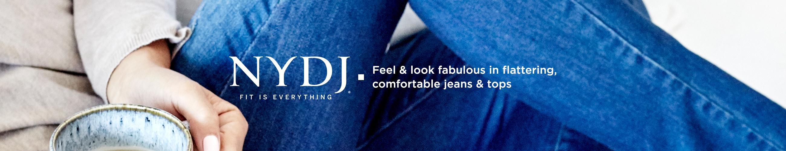 NYDJ  Feel & look fabulous in flattering, comfortable jeans & tops