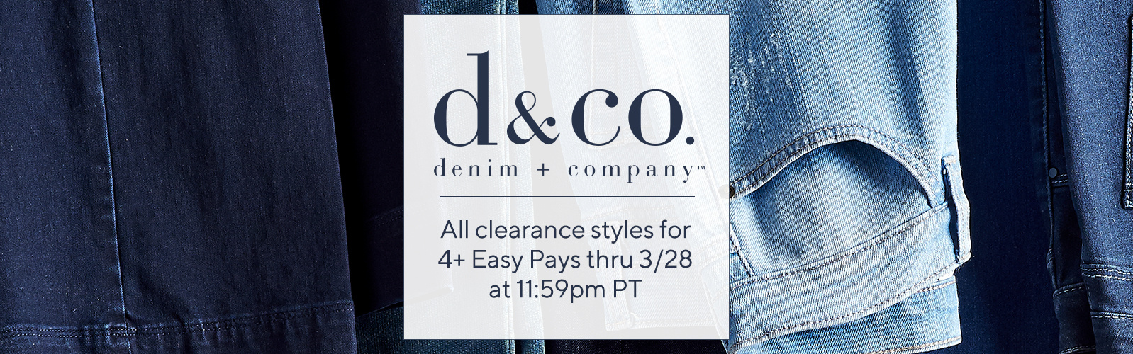 Denim   Co. All clearance styles for 4+ Easy Pays thru 3 28 ... 57db2c92e7384