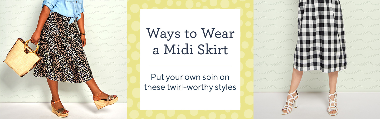 Ways to Wear a Midi Skirt  Put your own spin on these twirl-worthy styles