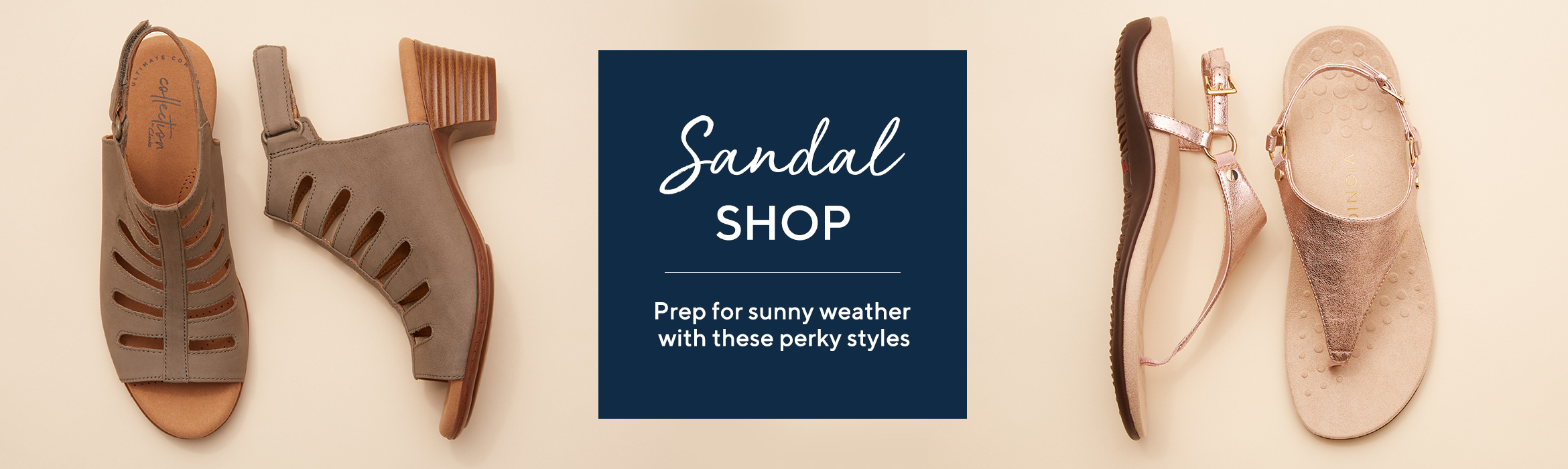 The Sandal Shop. Prep for sunny weather with these perky styles