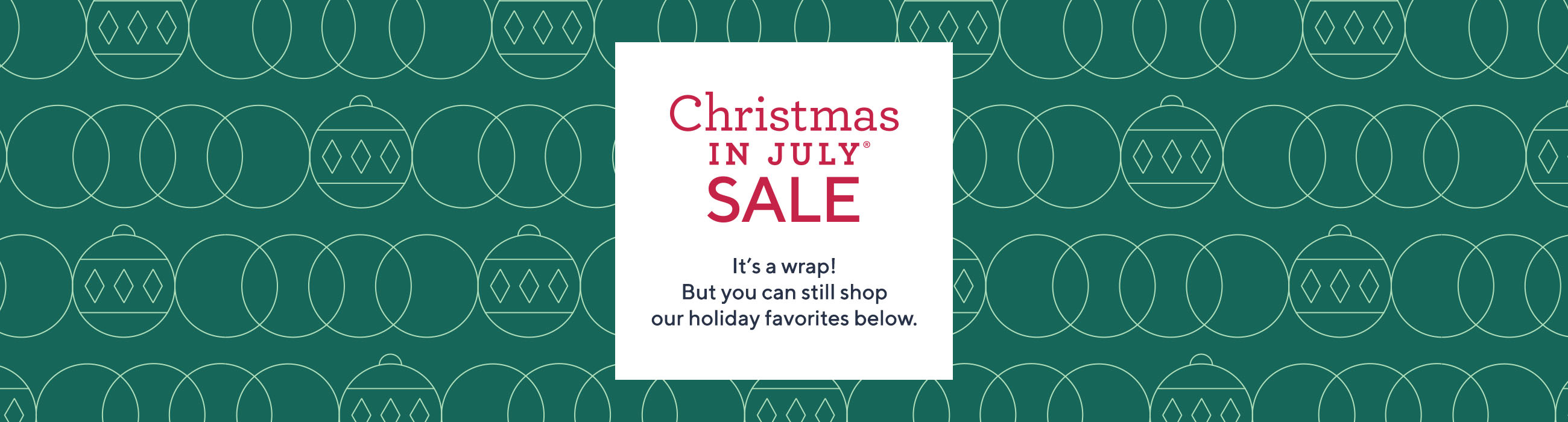 Christmas in July Sale — Shop
