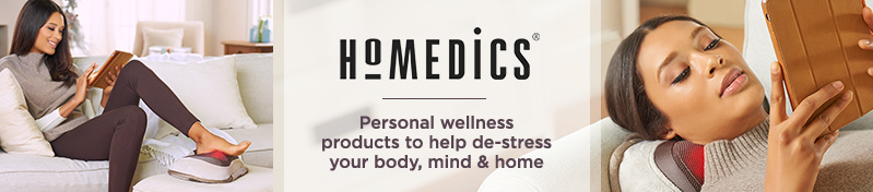 HoMedics. Personal wellness products to help de-stress your body, mind & home
