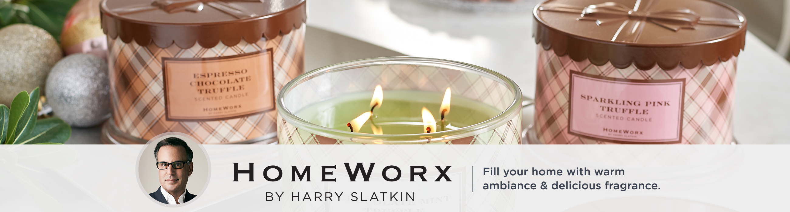 Homeworx by Harry Slatkin - Make the holidays shine with fragranced candles & more