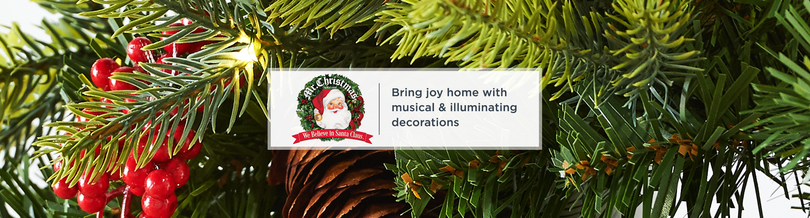 Mr. Christmas — Bring joy home with musical & illuminating decorations
