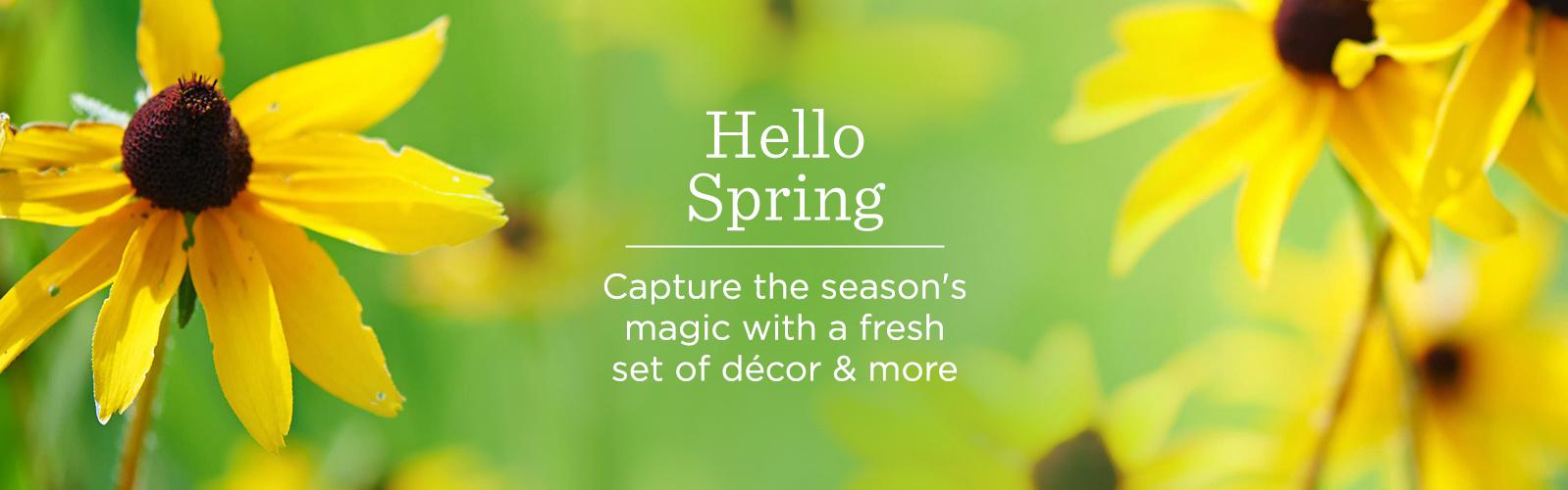 Hello Spring — Capture the season's magic with a fresh set of décor & more