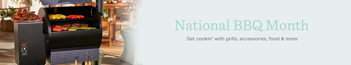 National BBQ Month Get cookin' with grills, accessories, food & more