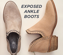 Exposed Ankle Boots