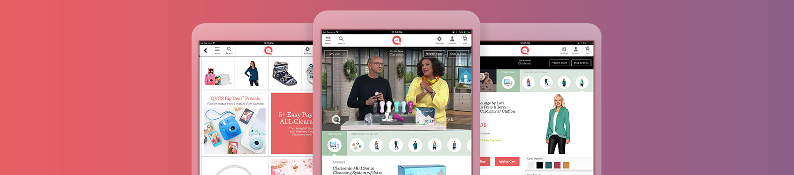 Get More of What You Love! Download the QVC for iPad® app for free. Requires iOS 7 or higher.