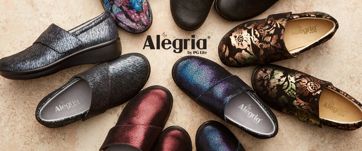 Today's Special Value® — Alegria Printed Nubuck Slip-On Shoes w/ Cross Strap - Lauryn