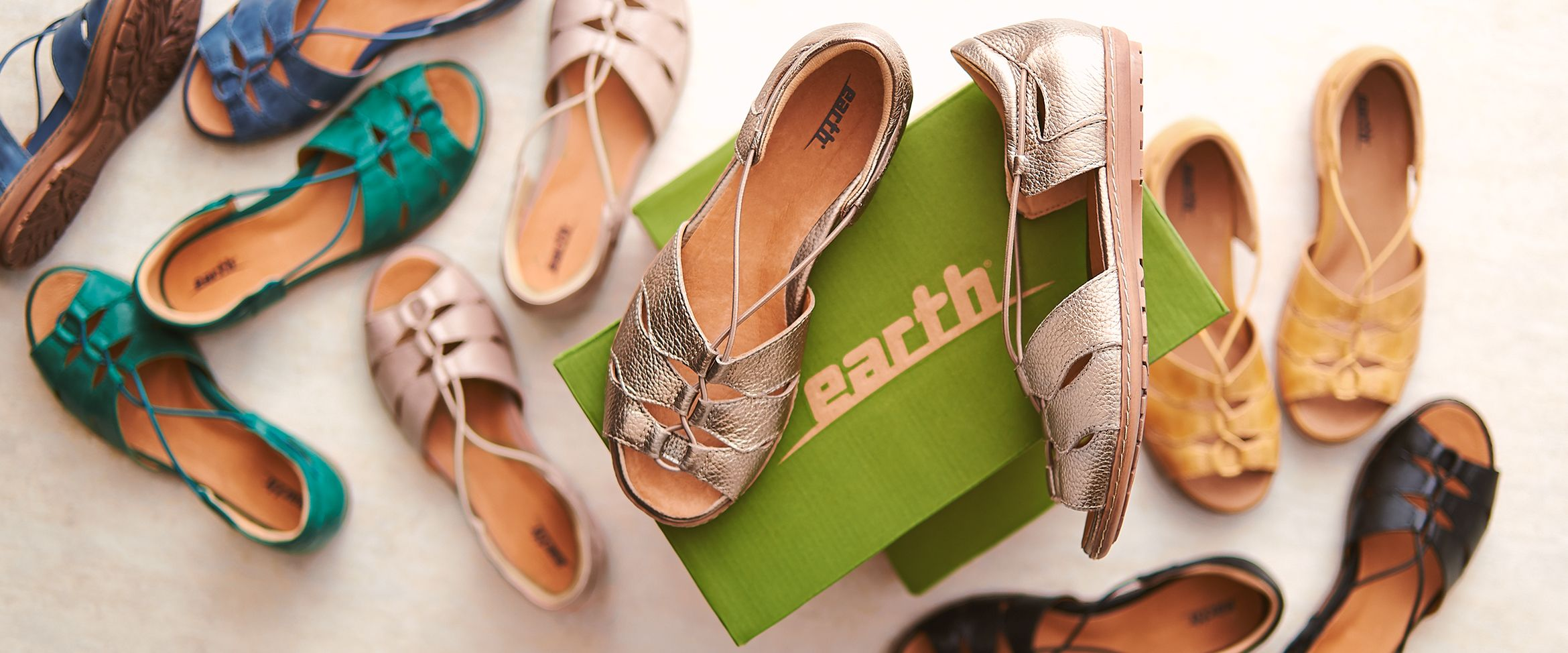 QVC) Earth Leather Bungee Slip-on