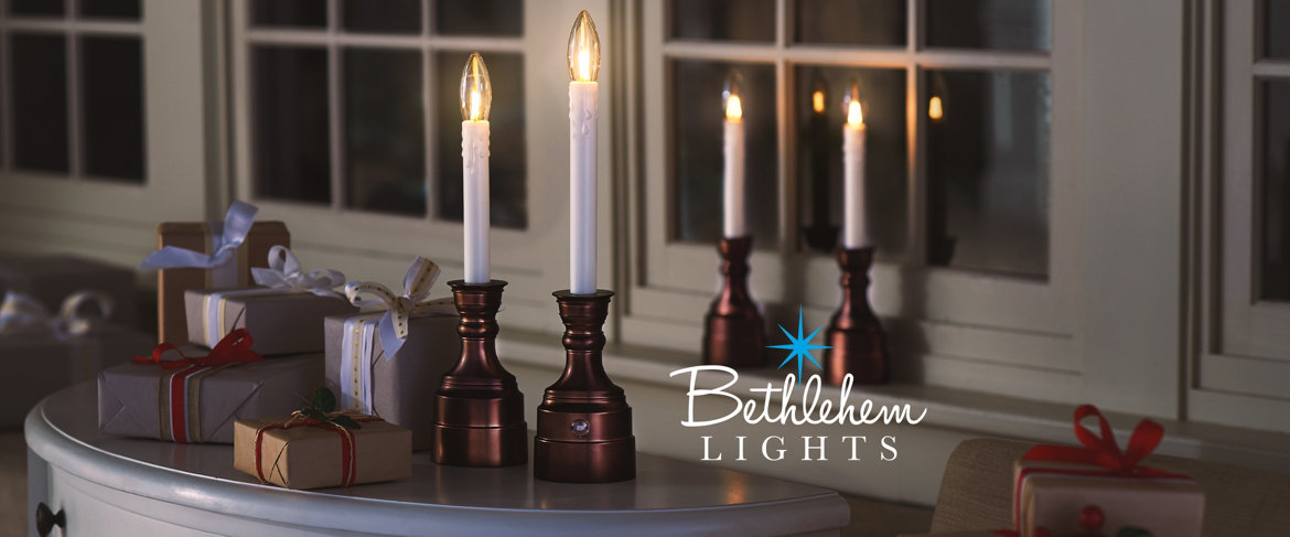 Qvc Bethlehem Lights Set Of 4 Warm Welcome Battery Op